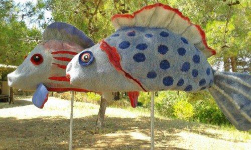fische gefilzt